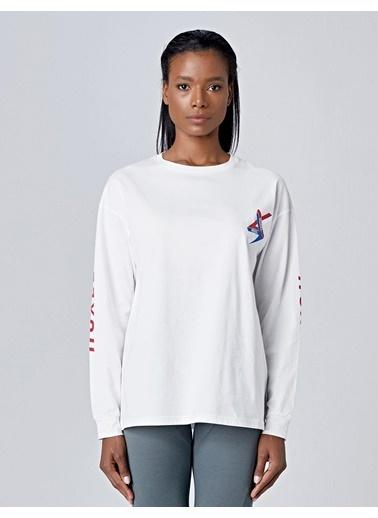 Huxel Tişört Krem